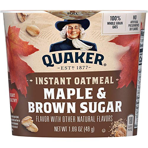 Quaker Instant Oatmeal Express Cups Maple amp Brown Sugar 12 Count