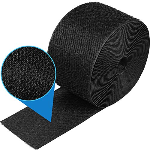 1 Piece 24 Feet Black Cable Grip Strip Carpet Floor Cord Cover Cable Protector Cable Management, Protect Cords and Prevent a Trip Hazard