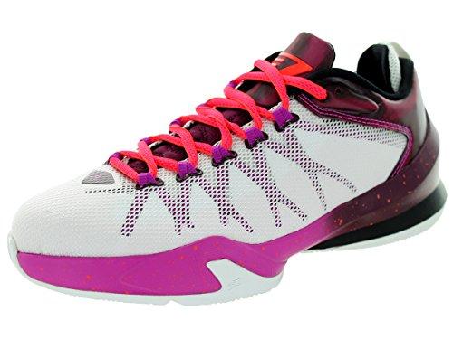 Jordan Nike Kids CP3.VIII AE BG White/Infrrd 23-BRDX/Fchs Flsh Basketball Shoe 5.5 Kids US