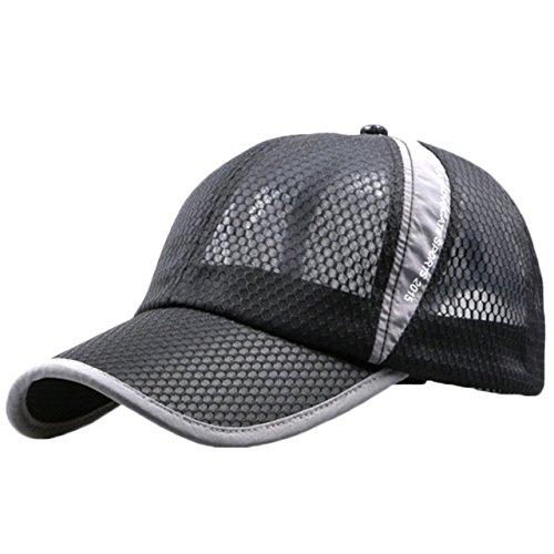 BUZZxSELECTION(バズ セレクション) エアーメッシュ UVカット ランニング キャップ 帽子 メンズ レディース CAP001 (01ブラック)