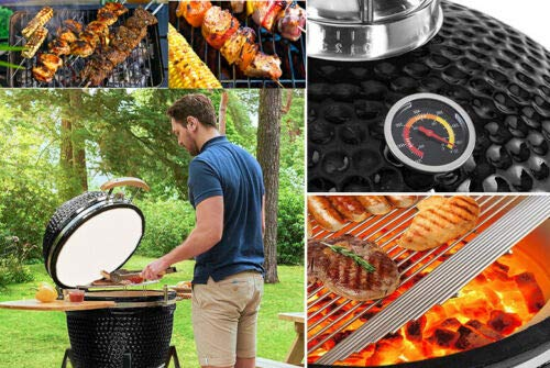 KAMADO SMOKER BBQ CHARCOAL BARBECUE GRILL OUTDOOR GARDEN COOKING EGG COOKER OVEN
