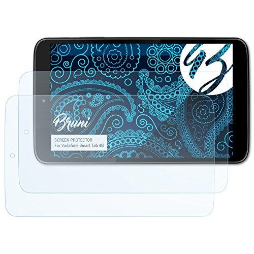 Bruni Schutzfolie kompatibel mit Vodafone Smart Tab 4G Folie, glasklare Bildschirmschutzfolie (2X)