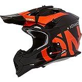 O'NEAL | Casco de Motocross | MX Enduro | Carcasa ABS, Norma de Seguridad ECE 22.05, ventilación para una óptima ventilación y refrigeración | Casco 2SRS Slick | Adultos | Negro Naranja | Talla XS