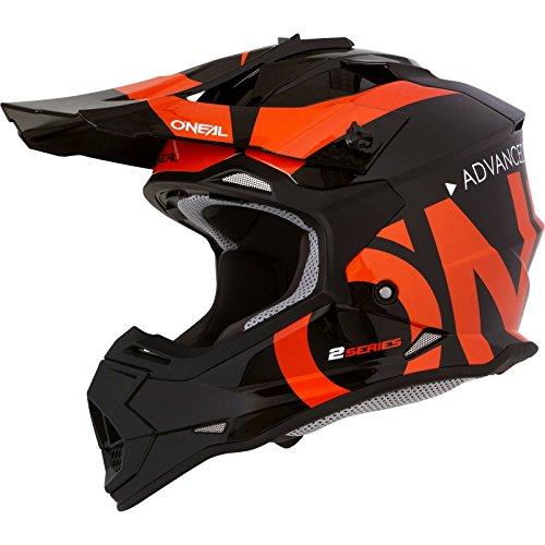O'NEAL | Casco da motocross | MX | Calotta in ABS, Standard di sicurezza ECE 22.05, Prese d'aria per una ventilazione e raffreddamento ottimali | Casco 2SRS Slick | Adulto | Nero Arancione | Taglia S