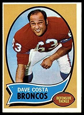 1970 Topps #122 Dave Costa Denver Broncos NFL Football Card VG Very Good