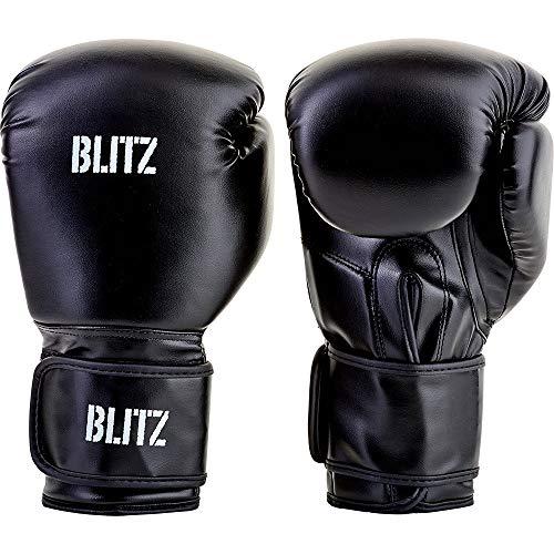 Blitz Guantes de Boxeo Unisex, Color Negro, 8 onzas