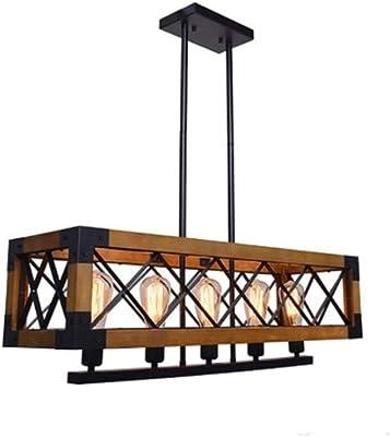 Lampadari SCH American Retro Vento Industriale Loft Legno rettangolo di Legno del Pendente del Metallo Creative Wood Lampade Ristorante Living Room Lighting