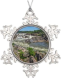 Metal Ornaments Rapids Virginia Custom Christmas Snowflake Ornament Large Outdoor Christmas Snowflake Ornaments