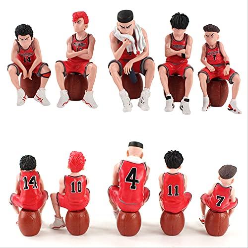 bolin 5 Unids/Set Slam Dunk Sentado Cubo Jugador De Baloncesto Figuras De Acción Modelo Juguetes Adornos