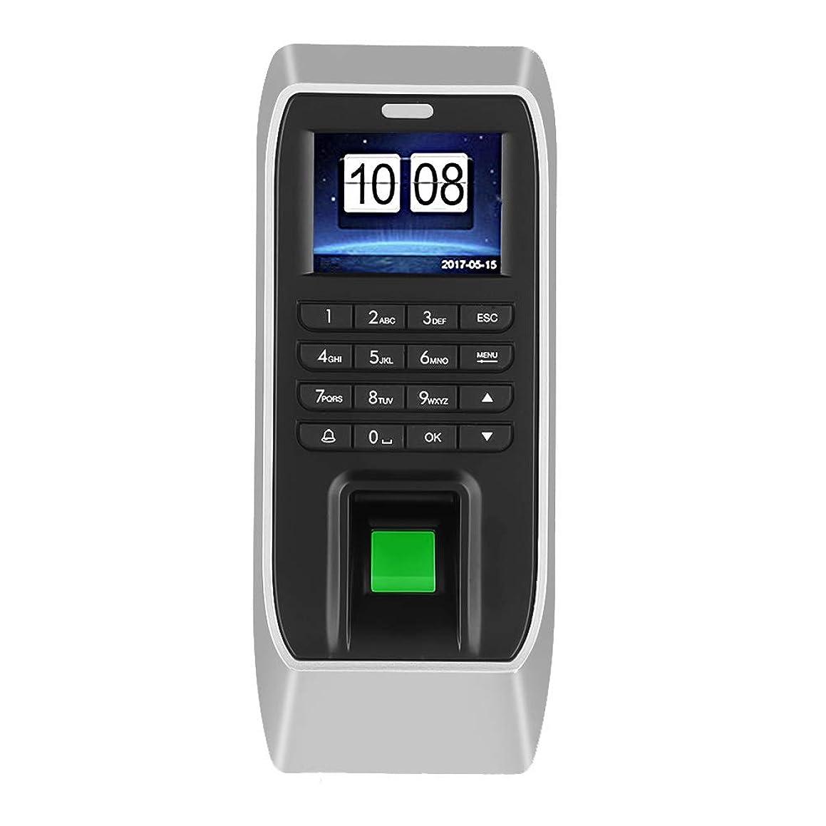 Security Biometric Fingerprint Door Lock Password Attendance Machine Employee Checking-in Recorder Fingerprint Intelligent Attendance Machine, 2.4 inches TFT LCD Office Time Attendance Clock
