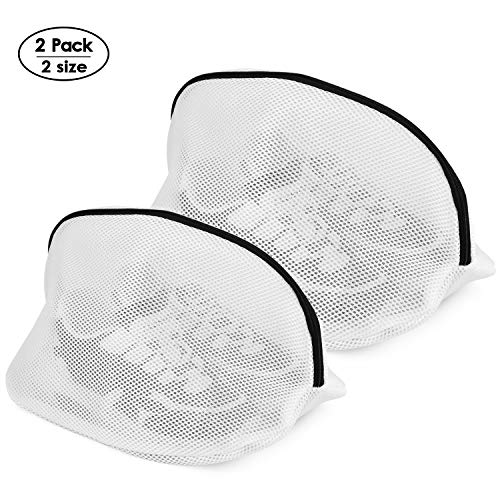 Yoassi 2 Stück Wäschebeutel für Schuhe/Sneaker Waschmaschine mit Reißverschluss Schuh-Wäschebeutel Schuhbeutel Wäschesack Schutz Wäschenetze für Aufbewahrung und die Reise