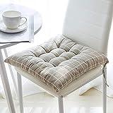 Juego de 4 cojines de asiento para silla de 40 x 40 cm, cojines para silla de jardín, balcón, terraza, asiento de jardín, (espacio)