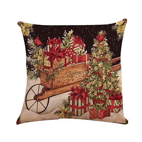 jieGorge Kissen Bezug Räumungsverkauf,Weihnachtskissenbezüge Stickerei Kissenbezüge für Home Car Decorative,Weihnachtskissen für Küche Dekoration