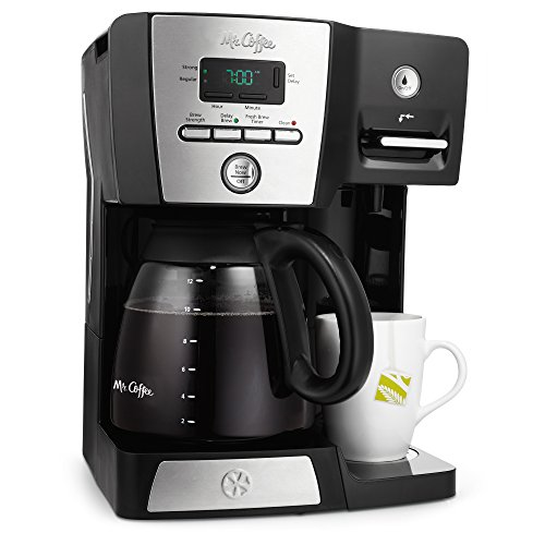 Mr. Coffee 12-cup Programmable Coffeemaker Coffee Maker, 16-Ounce, Black/Chrome