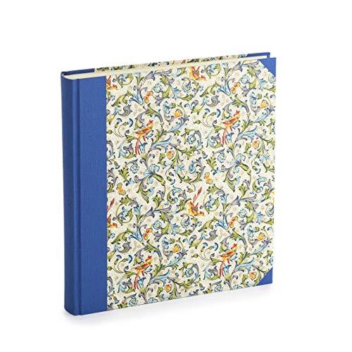 libralides Premium Fotoalbum - zum selbstgestalten - hochwertiges Fotobuch mit Florentiner Papier bezogen - perfektes Album für die schönsten Bilder der ganzen Familie (Florentiner Vögel, vanille)
