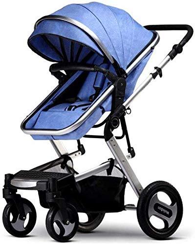 TYZXR Kinderwagen für Neugeborene und Kleinkinder - Cabrio Kinderwagen Compact Einzelwagen Kindersitz Kinderwagen Kinderwagen mit Getränkehalter, B