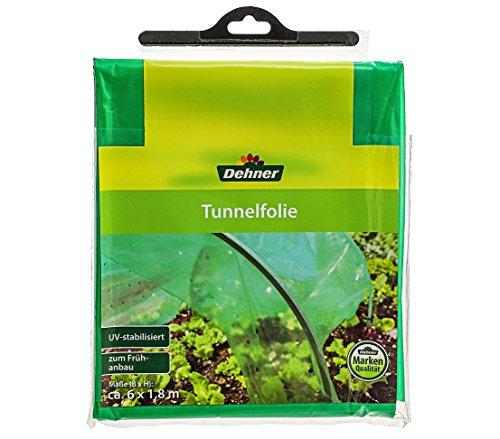 Dehner Tunnelfolie zur Anzucht, 6 x 1.8 m, Kunststoff, grün