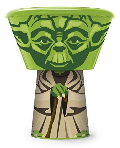 Idelice EN031 127a Yoda Set de Repas Empilable Plastique/Polypropylène Vert 13,5 x 13,5 x 17 cm