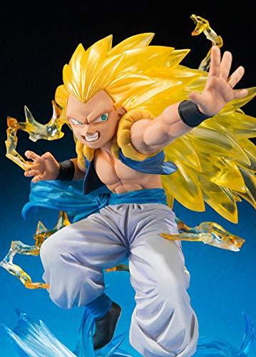 LJXGZY Romántico-Z Dragon Ball Z Gotenks Goten Trunks Fusion Super Saiyan 3 Limited Ver. Estatua de Regalo de cumpleaños Modelo de decoración de colección de acción de PVC 16cm