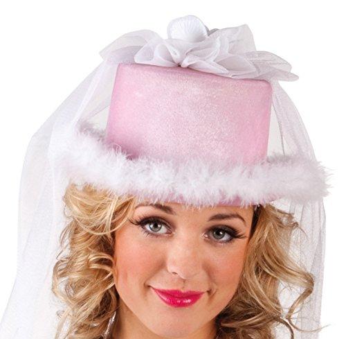 Boland 01357 – Chapeau avec Voile de Mariage pour Adulte, Blanc, Taille Unique