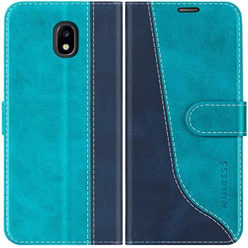Mulbess Custodia per Samsung J3 2017, Cover Samsung J3 2017 Libro, Custodia Samsung Galaxy J3 2017 Pelle, Flip Cover per Samsung Galaxy J3 Duos 2017 Portafoglio, Blu Mint