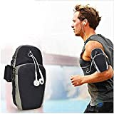 Universal Running Armband, Arm Cell Phone Holder Sports Armband for Running, Fitness and Gym Workouts, Compatible with iPhone X/8/7/6/Plus, Samsung Galaxy S9/S8/S7/S6/Edge/Plus & LG, Black