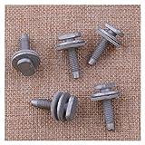 ZSYLOVE ZHANGSUYUAN 5 unids/Set Car Trasero Trasero manija de fijación Kit de fijación Bolts Set Repair Silver Metal Fit para Nissan Qashqai J10