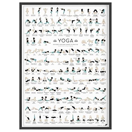 Follygraph Yoga Póster, Cartel, Art, gráfico, Print - DIN A2