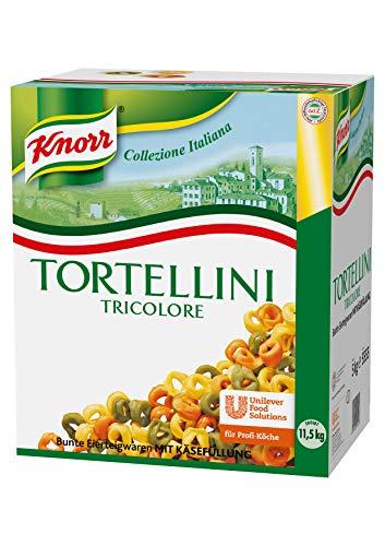 Knorr Tortellini Tricolore mit Käsefüllung 5 kg, 1er Pack (1 x 5 kg)