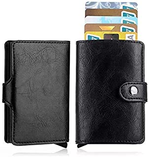 JY_shop Wallet for Men,Anti-theft Wallet Credit Card Wallet Card & ID Cases Purse Money Cash Holder With Elegant Box-BLACK