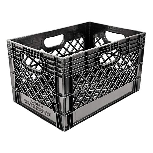 Jezero Mc-24 Mutli-Purpose Black Milk Crate, Rectangle, 13' x 11' x 19