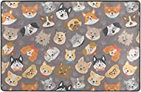 犬の恋人スーパーソフト屋内モダンエリアラグふわふわラグダイニングルームホームベッドルームカーペットフロアマットベビーキッズ犬猫60x39インチ-80x58インチ