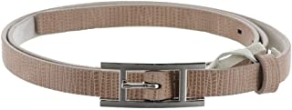 Halston Lizard Embossed Leather Belt H Buckle A272191
