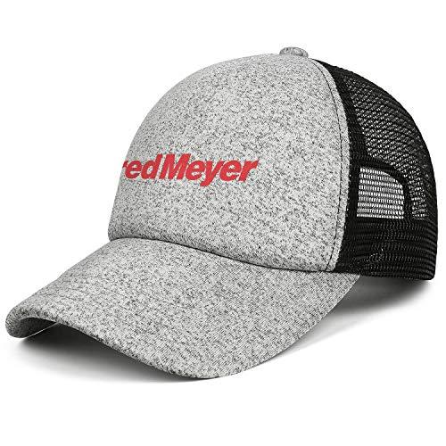 Unisex Men Baseball Hat Classic Adjustable Mesh Flat Brim Fred-Meyer-Logo-Flat Caps