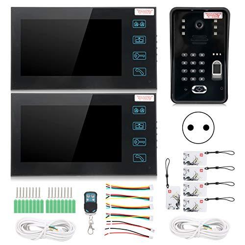 Videoportero de 7 Pulgadas para Puerta, para 2 monitores(European regulations)
