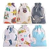 FORMIZON 18 Bolsas de Regalo DIY para Pascua, Bolsitas de Yute con Animal, Fabricar y Rellenar tú Mismo, Bolsa de Yute para Envolver Regalos de Pascua