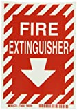 Brady 73660 B324 7' x 5' Red/Glow Fire Extinguisher