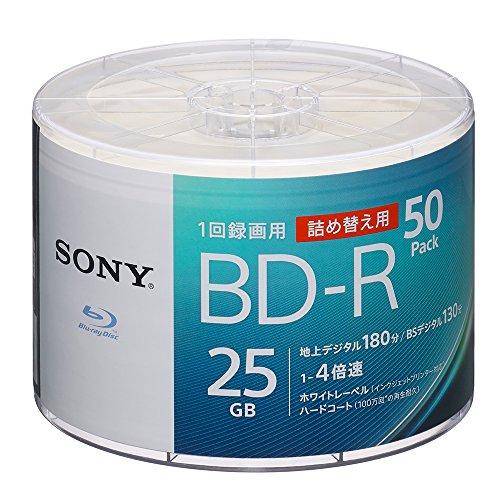 スマートマットライト ソニー SONY ビデオ用ブルーレイディスク 詰め替えモデル 50BNR1VJPB4 (BD-R 1層:4倍速 50枚バルク)