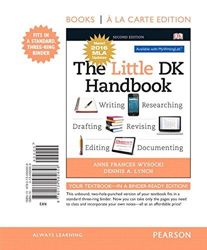 Little DK Handbook, The, Books A La Carte Edition, MLA Update Edition (2nd Edition)