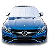 JiGMO Car Sun Shade Windscreen (Medium) with Anti-Theft Strap to Hold Securely Inside the Car - Use As Edge...