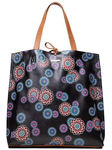 Desigual Tasche Damen Multi farbigen Schwarz - 19SAXP56-2000-U