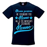 T Shirt Uomo Idea Regalo Festa Nonni Le Persone più Importanti Mi Chiamano Nonno Blu M