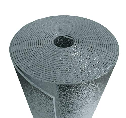 50 Sqft R-8 HVAC Duct Wrap Insulation Reflective 2 Sided Foam Core 12' x 50'