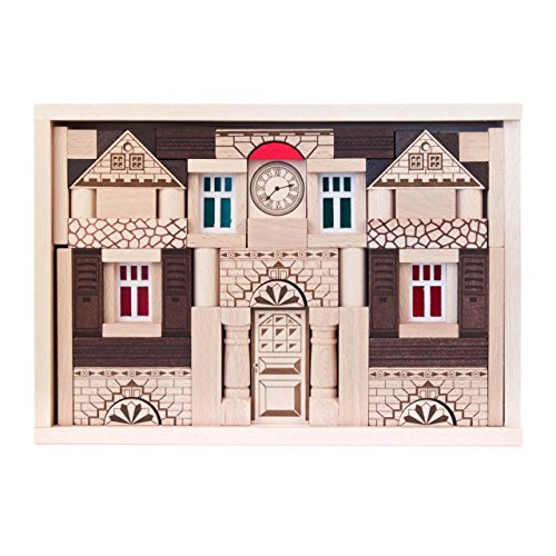 Baukasten Noblesse mit 82 Teilen, Spielzeug aus Holz, Geschenk für Kinder, von DREGENO SEIFFEN – Original erzgebirgische Handarbeit