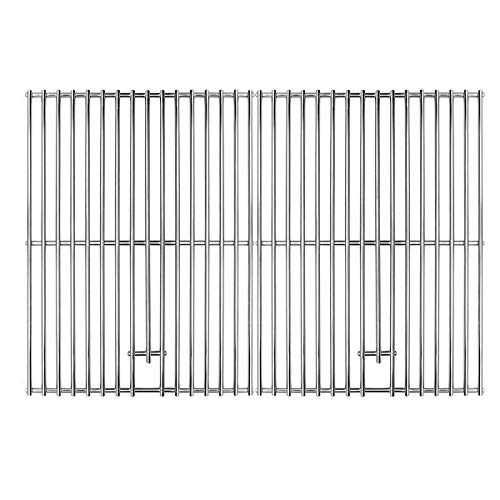 17  x 13 1 4  SOLID Stainless Steel Cooking Grates, Replacement Parts for Charbroil 463411512, 463411712, 463411911, C-45G4CB, 720-0719BL, 720-0773, Nexgrill 720-0783, 720-0773, Master Forge 1010037