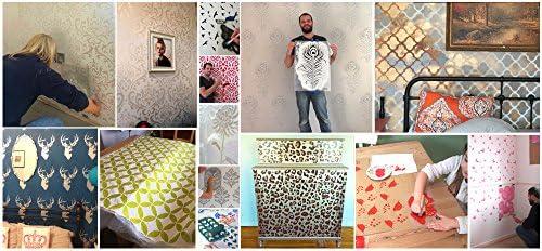 XS// 11X18CM Artesan/ía Pintura Impresi/ón Labios Beso Plantilla Pintura Paredes Telas Muebles Decoraci/ón Hogar Reutilizable Lavable