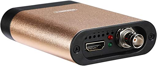 SDTNOVA HDMI SDI Video Capture to USB 3.0 360MB/s for Windows Linux OS X MAC 1080P/60fps UVC YUVC422 PnP Fre Driver Live Streaming Conver PC USB External Video Capture Card