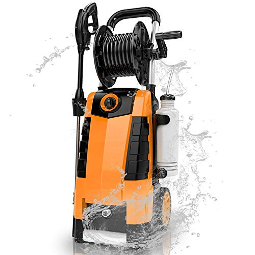 TEANDE 3800PSI Electric Pressure Washer, MAX 2.8GPM Electric Power Washer 1800W High Pressure Washer with Hose Reel MR3800