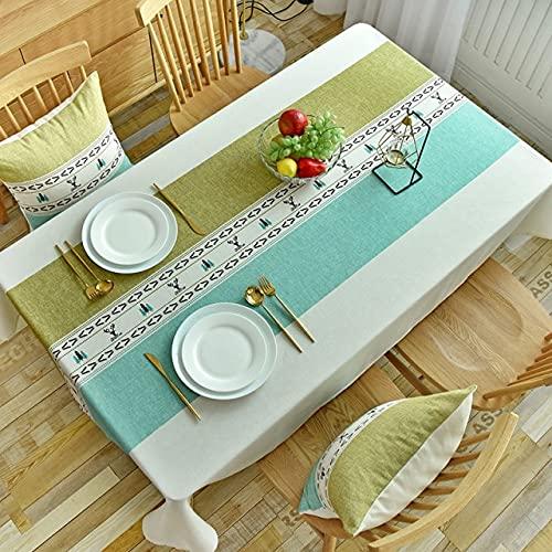 Manteles rectangulares con Estampado geométrico Moderno para Mesa, decoración del hogar, Cubierta de poliéster Impermeable para mesas de café, 140x240cm 02