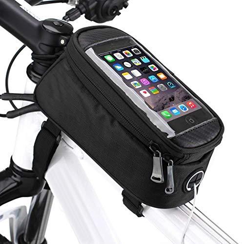 Borsa Telaio Bici, Wheel Up 4.8/5 inch Porta Cellulare Bici, Borsa da Manubrio per Biciclette, Borse Biciclette Supporto Bici MTB BMX, Accessori Bici